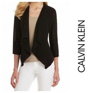 Calvin Klein Cascade Chiffon Cardigan Shrug L